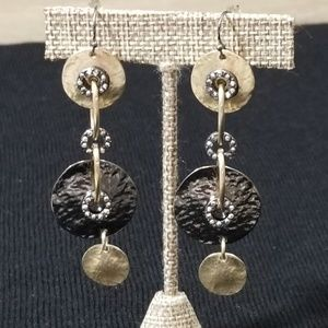Gorgeous hammered cz earrings